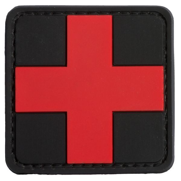 Patch 3D TAP Croce rossa Medic nero-rosso