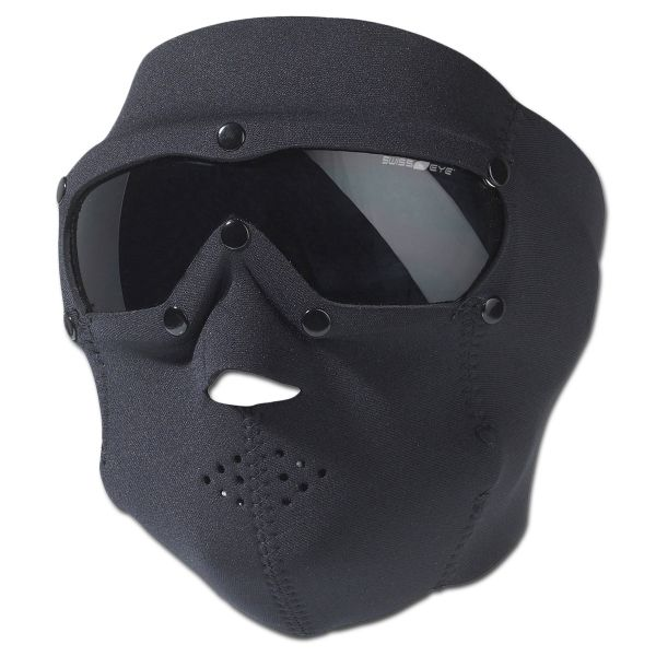 Maschera protezione viso Pro, in neoprene, Swiss Eye, nera
