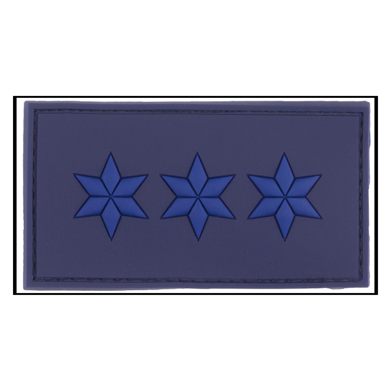 Distintivo di grado 3D tessuto Maggiore Capo Polizia blu