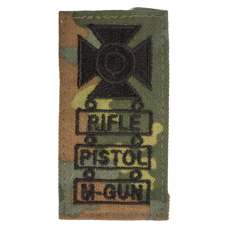 Distintivo in tessuto da cecchino Pistol M-Gun fantasia mimetica