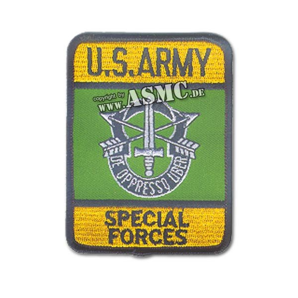 Distintivo in tessuto Special Forces US rettangolare