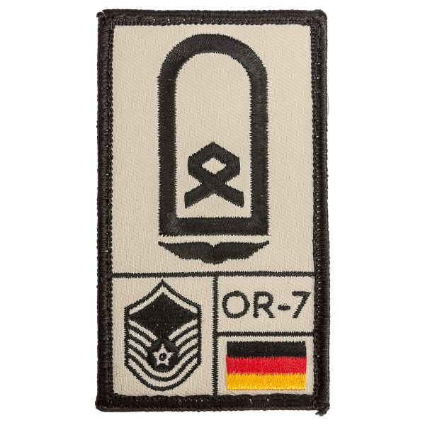 Patch di rango Sergente aeronautica militare Café Viereck sabbia