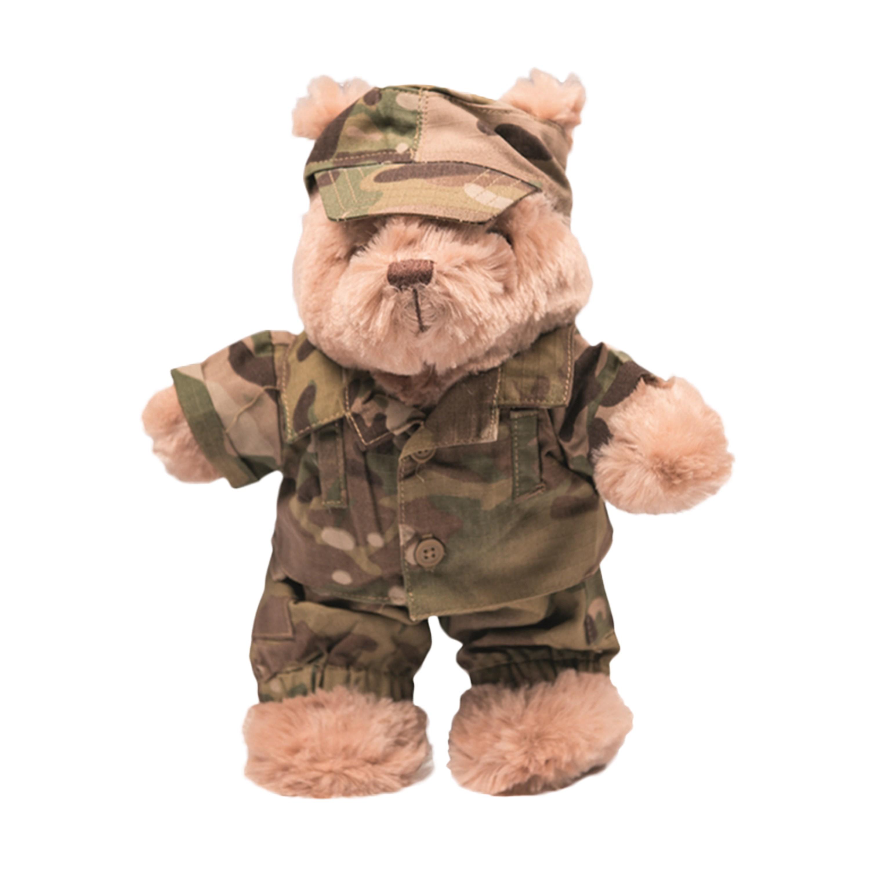 Completino militare mimetico, per peluche Teddy, piccolo