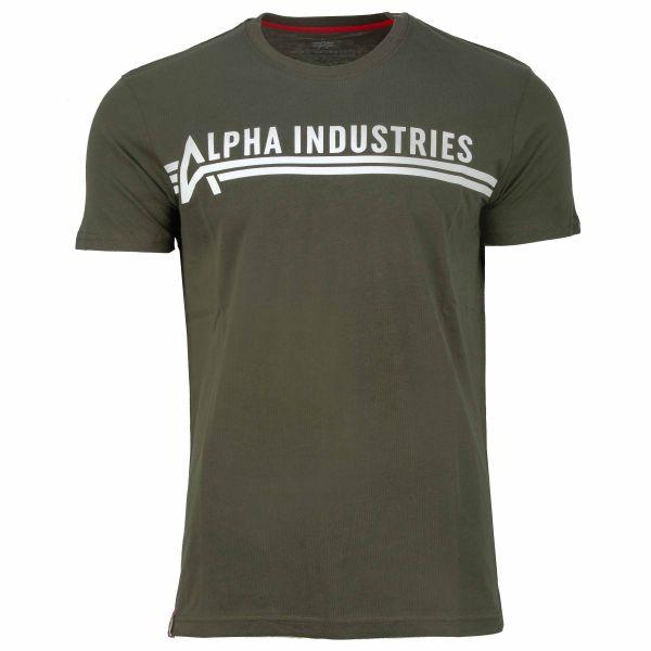 T-Shirt T marca Alpha Industries dark olive