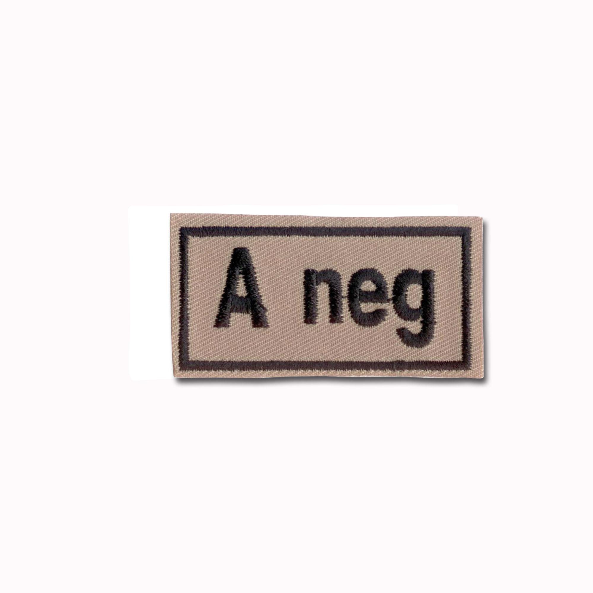 Bloodpatch A neg khaki