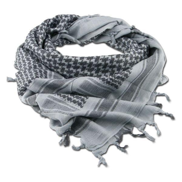 Fazzoletto da collo Shemag grigio/nero 110x110 cm
