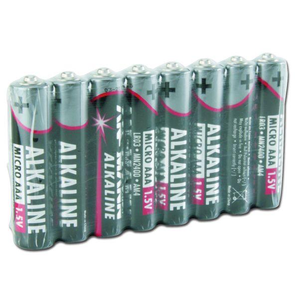 Set 8 batterie Micro AAA Red-Line Asmann