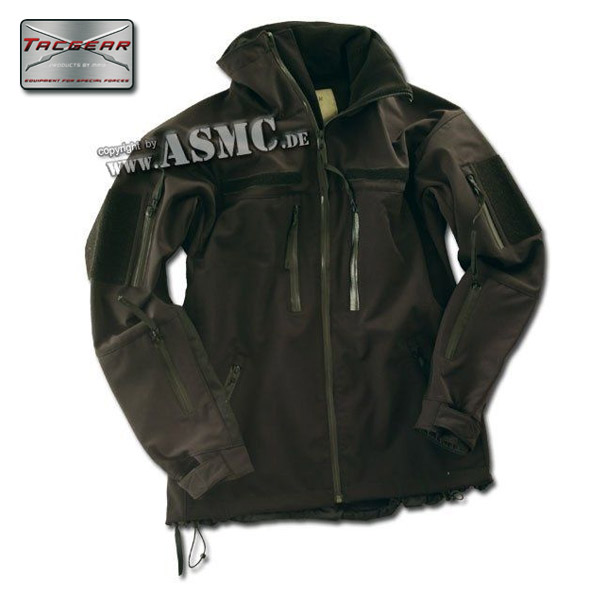 Giacca Softshell TacGear colore nero