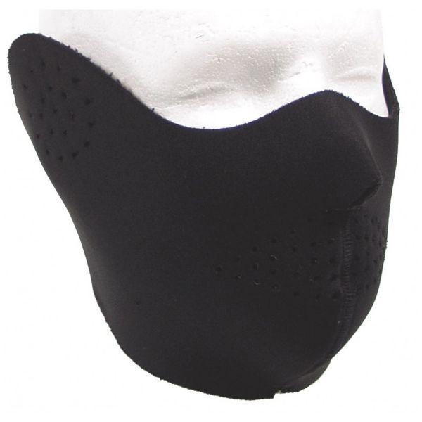 Maschera in neoprene a metà volto nero