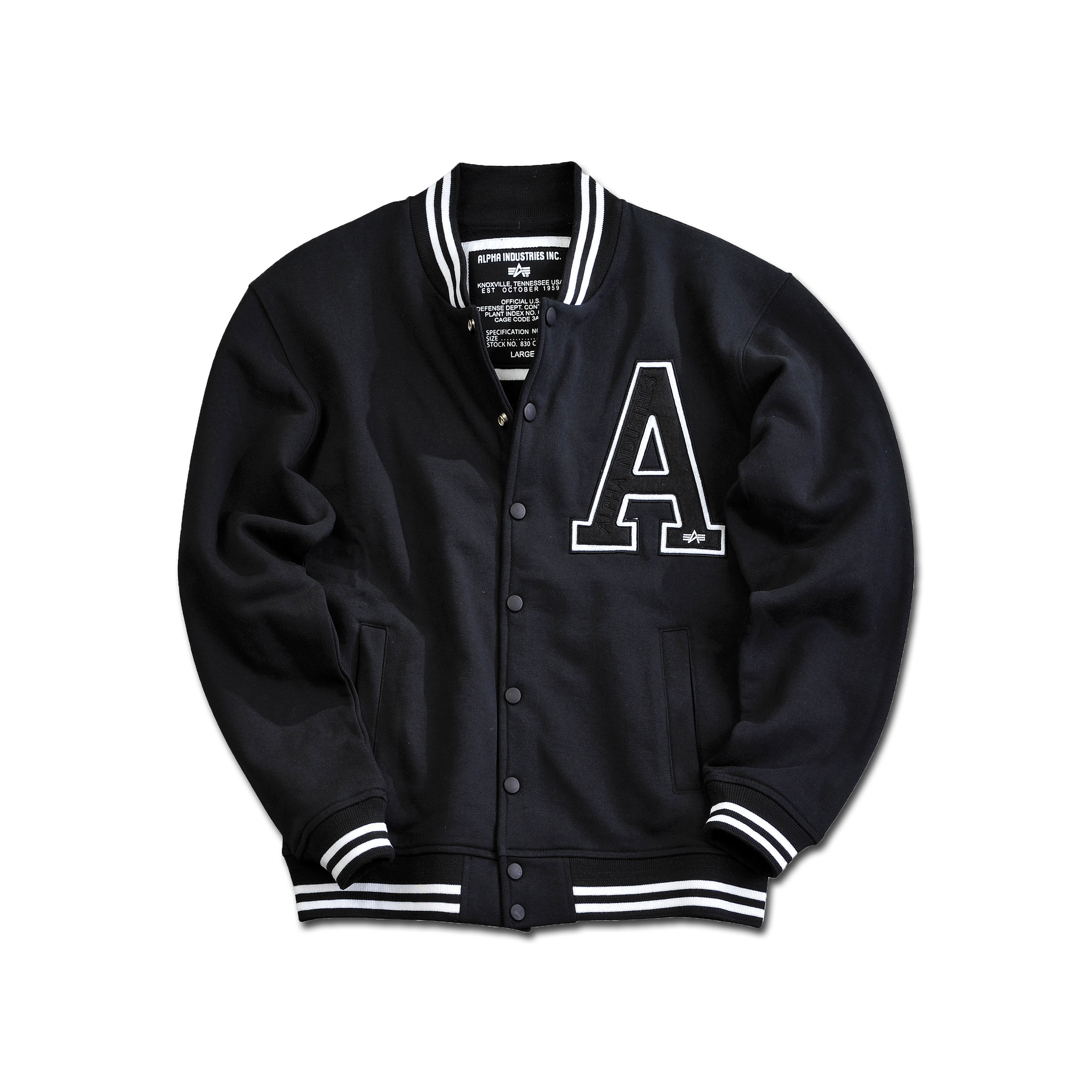 Giacca Academy, Alpha Industries, colore nero