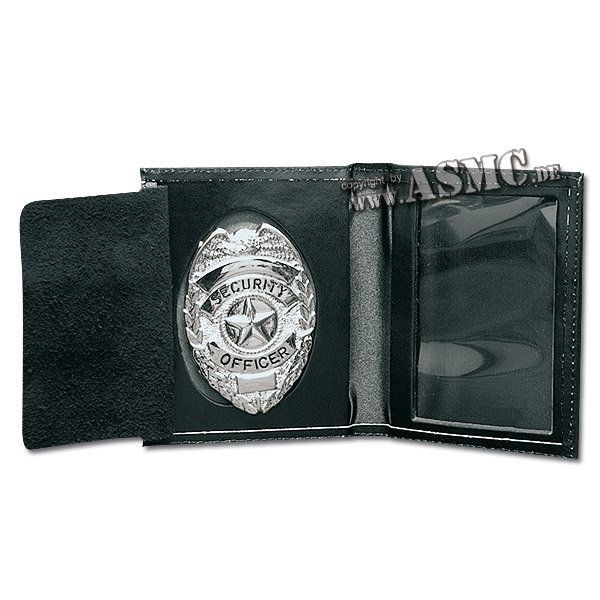 Custodia porta distintivo Security argento