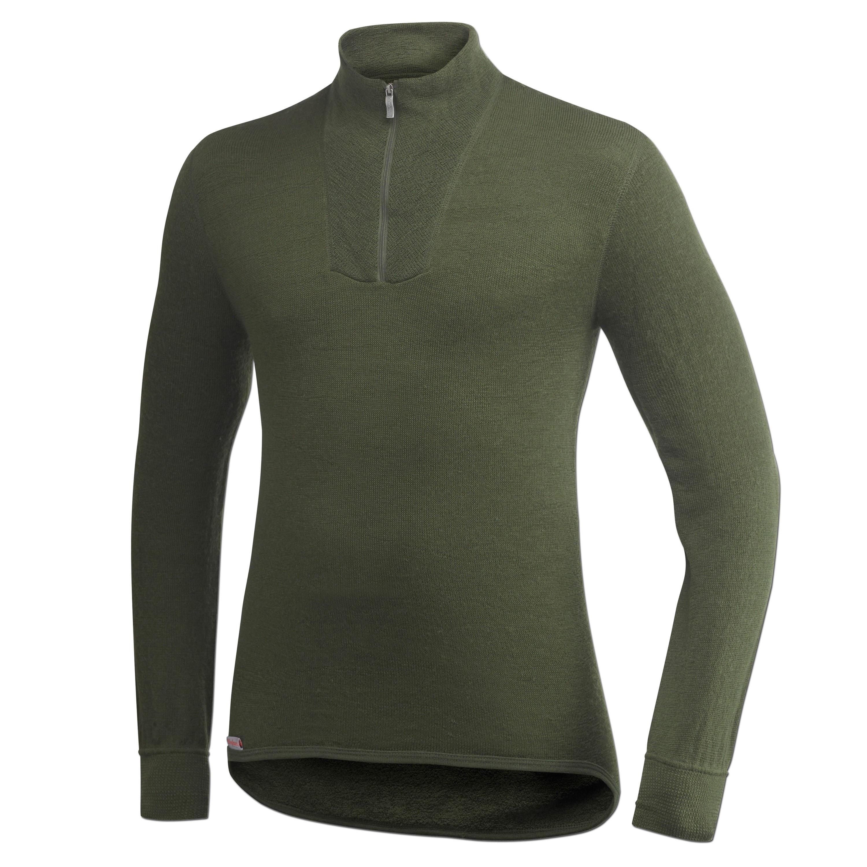 Maglia funzionale Turtleneck marca Woolpower 200 verde oliva