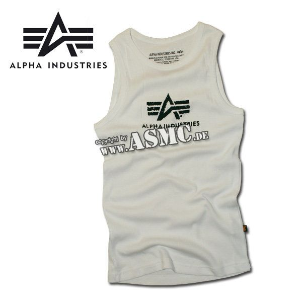 Canotta Alpha Logo bianco/ nero