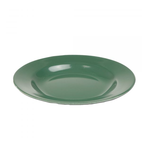 Piatto di plastica piano verde oliva