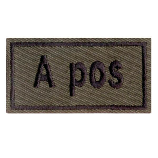 Badge sangue Patch A pos oliva