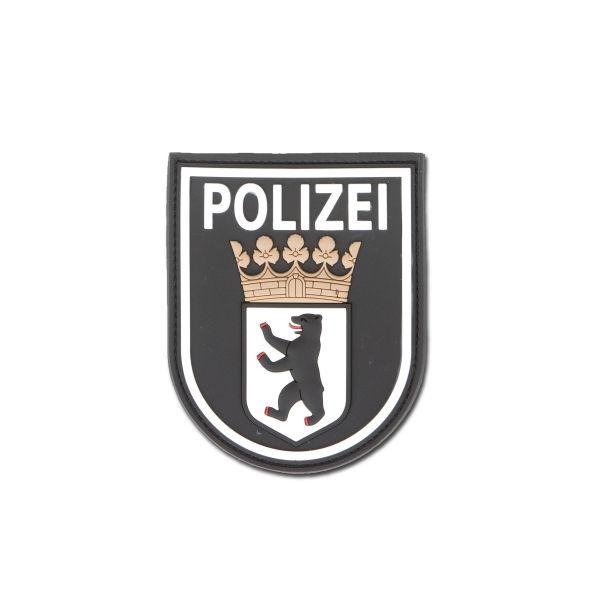 Stemma Patch 3D, Polizia di Berlino, colore nero