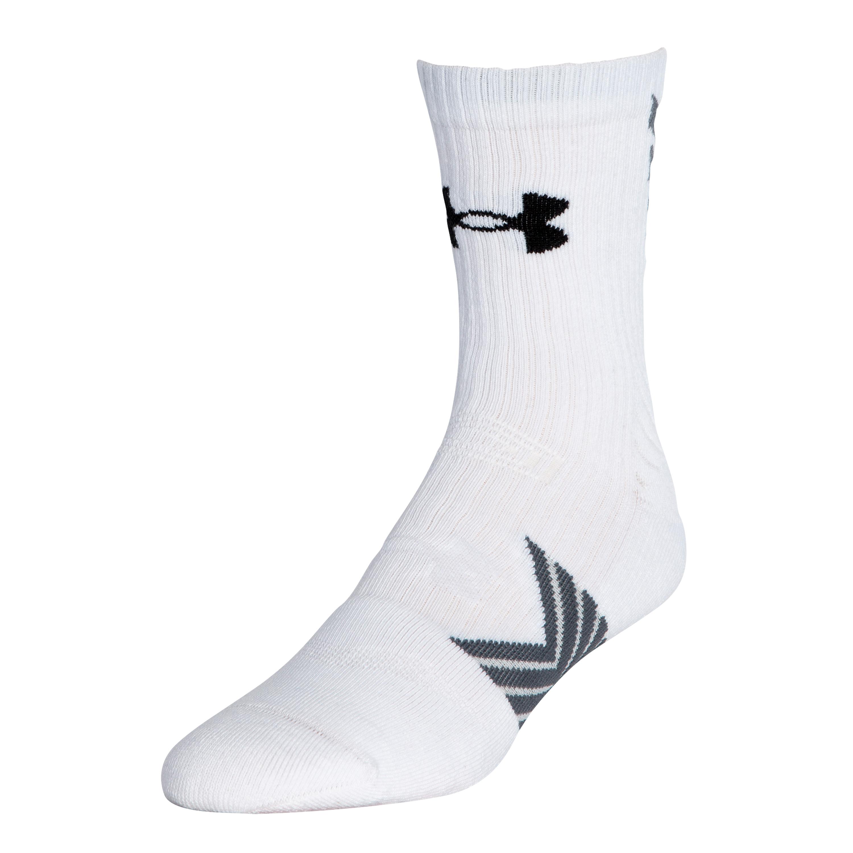 Calze sportive Undeniable Mid Crew da uomo UA colore bianco