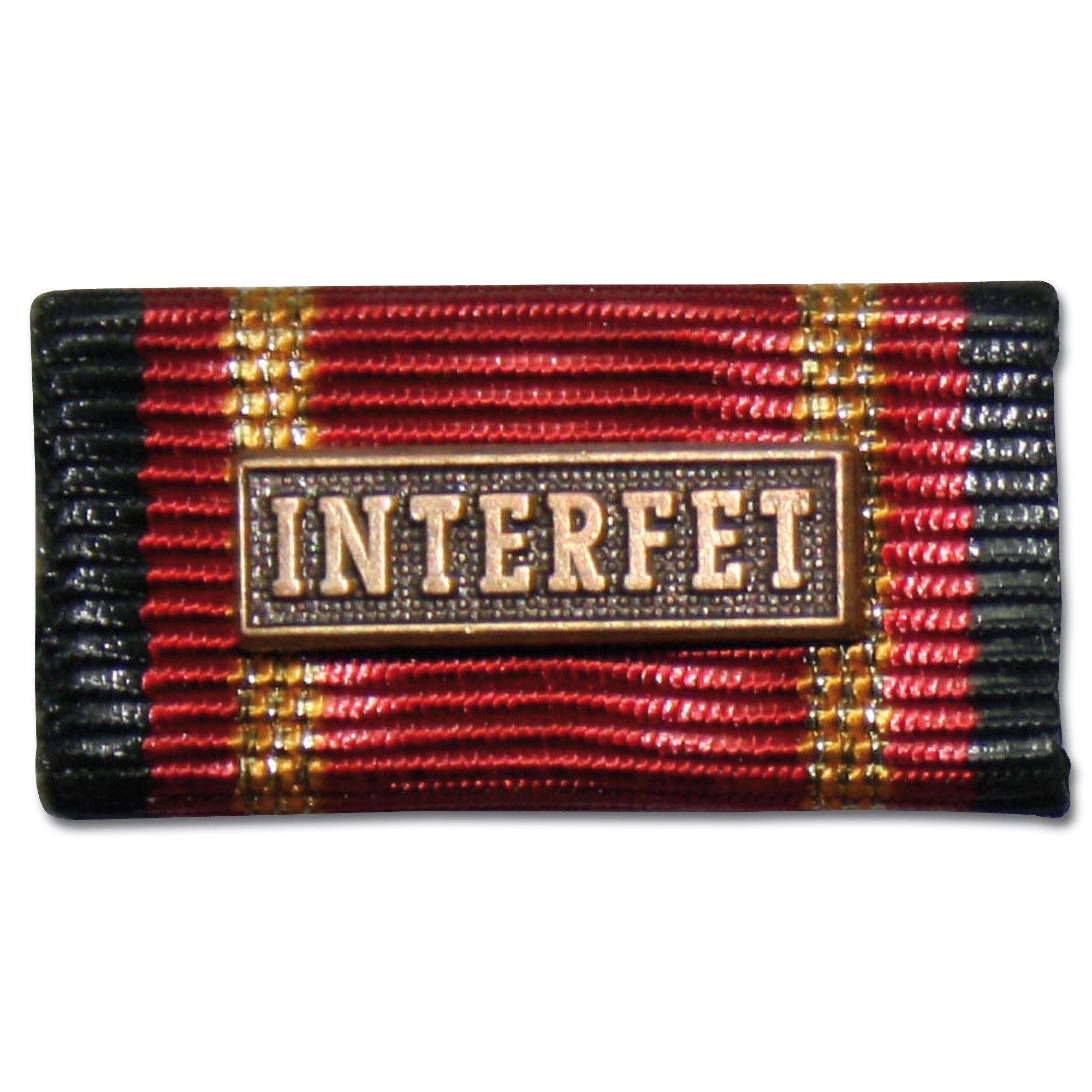 Label Pin Auslandseinsatz INTERFET bronze