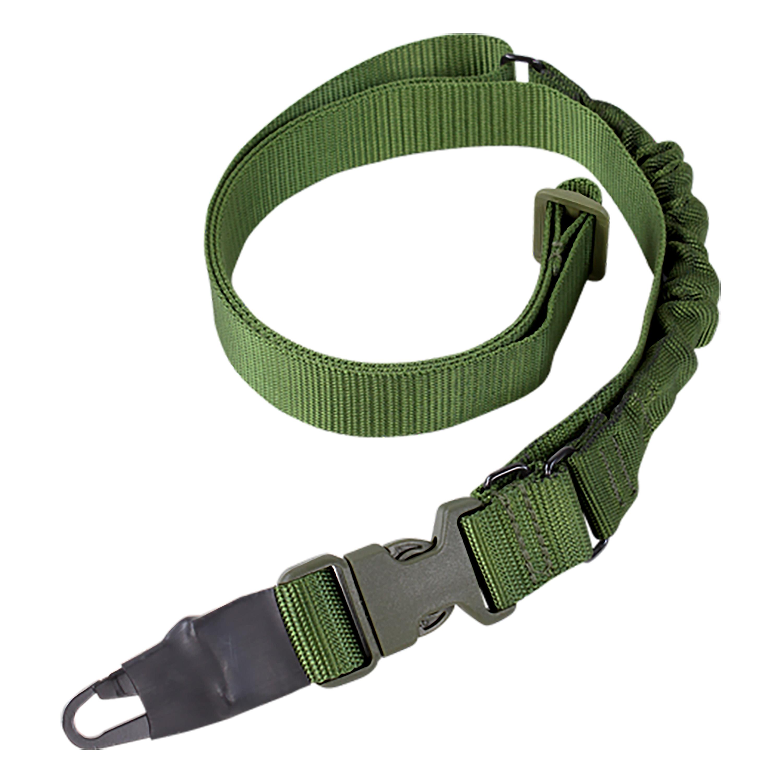 Cintura di fissaggio armi Bungee One Point Sling, verde oliva