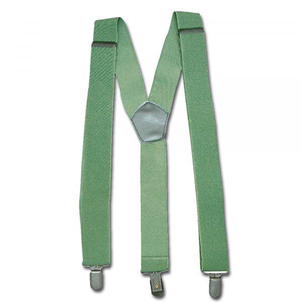 Bretelle con clip oliva