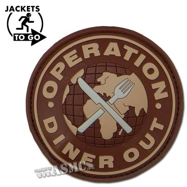 Patch 3D in gomma, Operation Diner Out Swat, desert