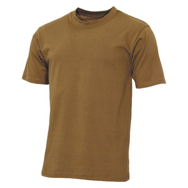 T-Shirt US MFH in cotone color coyote
