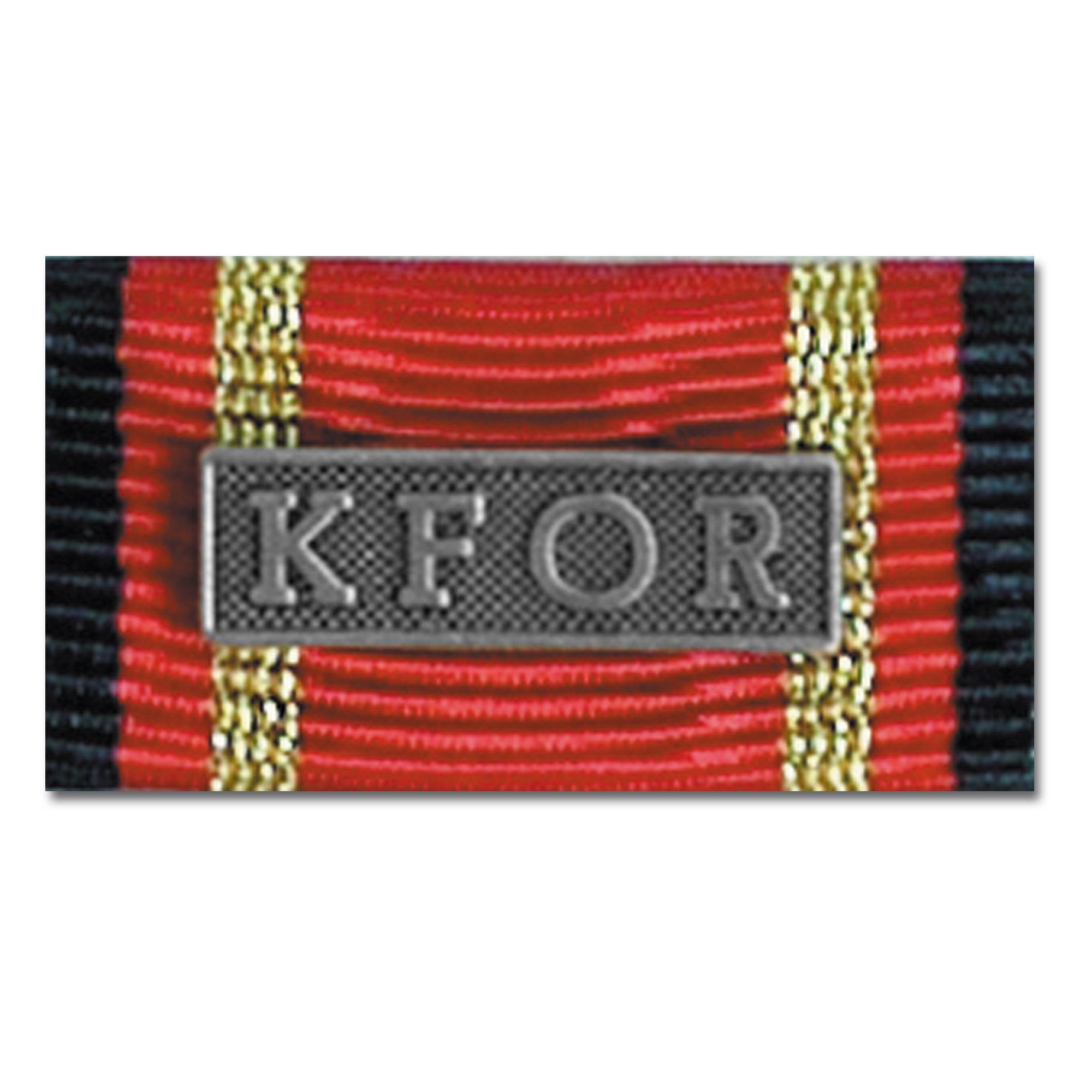 Nastrino di servizio estero KFOR argento