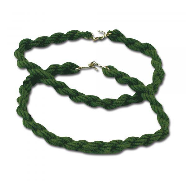 Elastici per pantaloni con ganci verde oliva