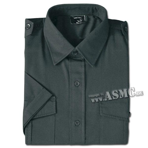 Camicia militare di servizio manica corta colore nero