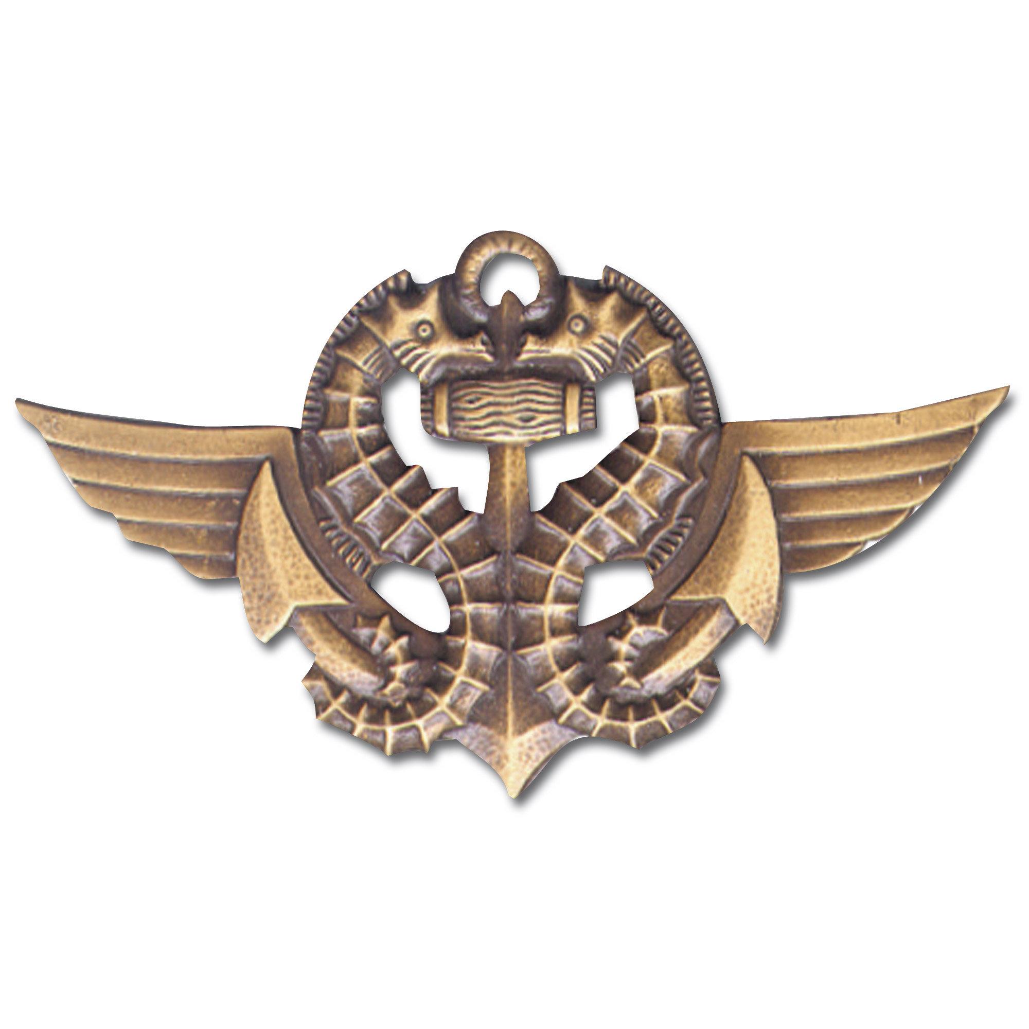 Distintivo francese in metallo nuotatore combattente