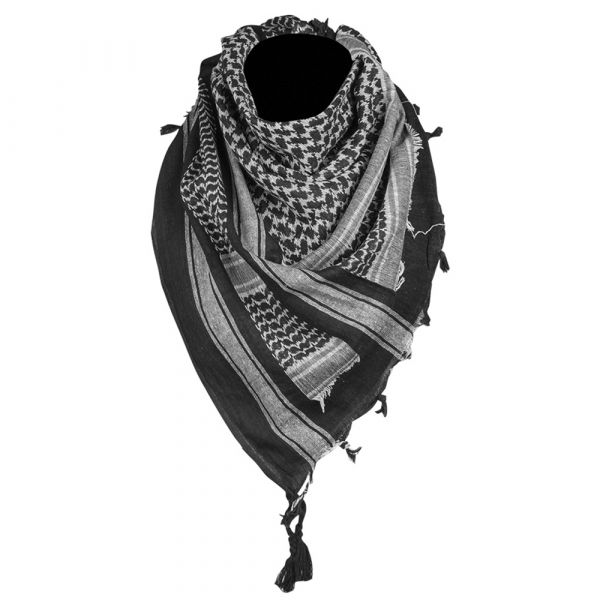 Shemagh marca Mil-Tec 110x110 cm nero bianco