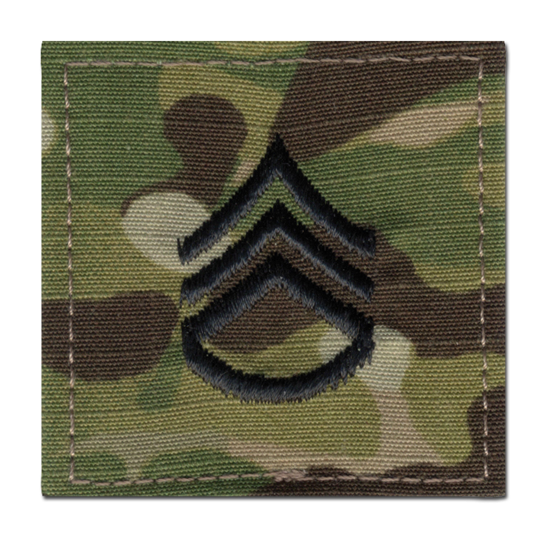 Patch di rango in tessuto Staff Sergente multicam