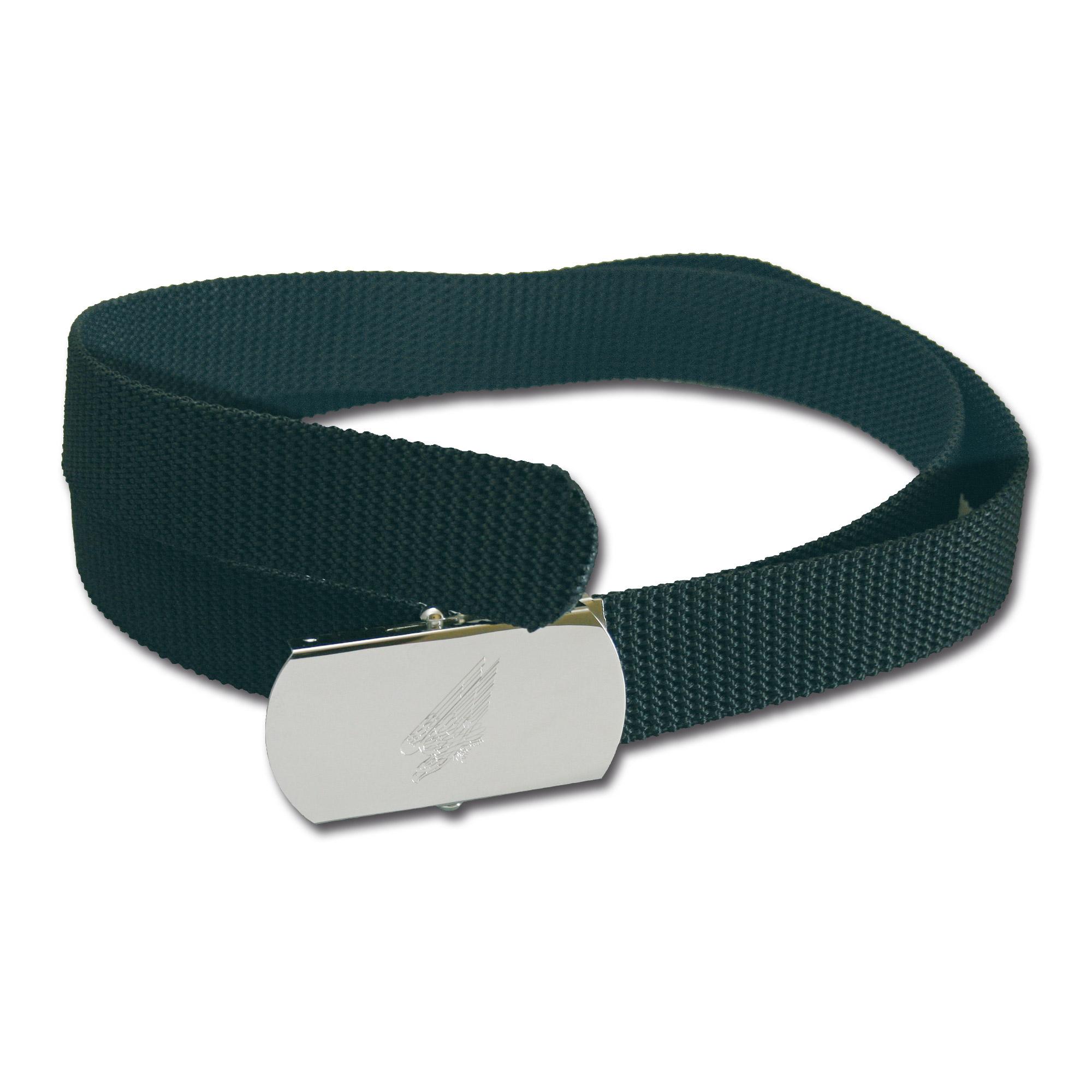 Web belt with engraved buckle Adler