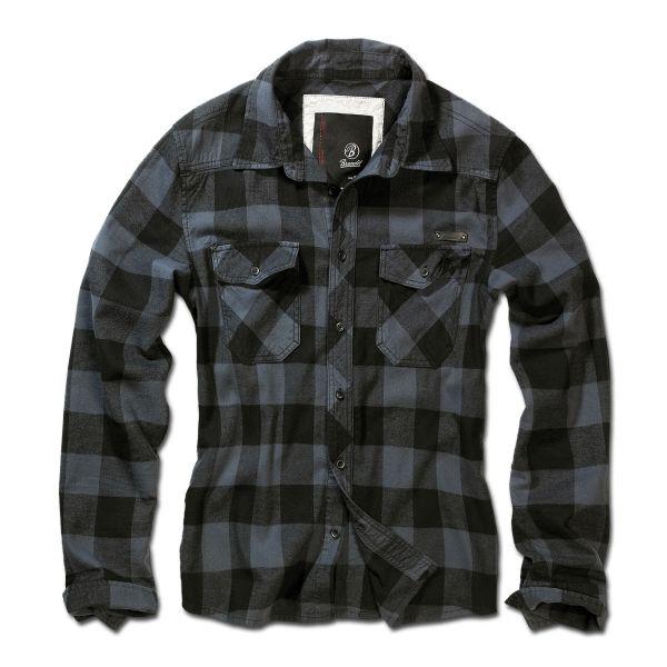 Camicia in flanella marca Brandit nero grigio