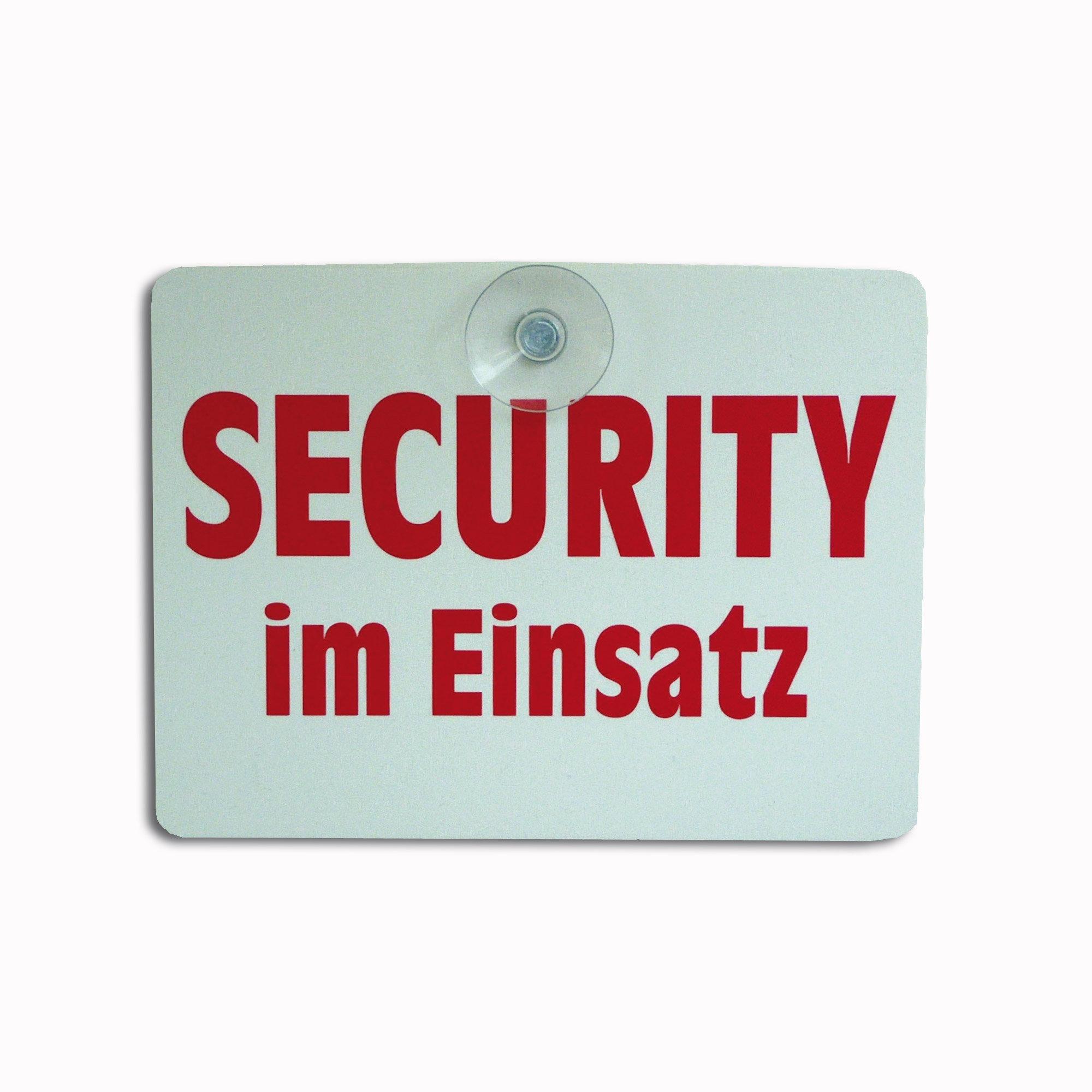 "Targhetta con ventosa ""Security im Einsatz"""
