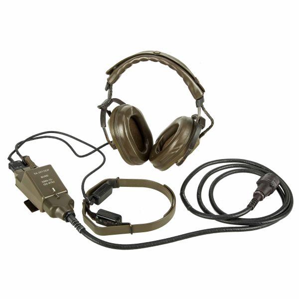 Set cuffie auricolari e microfono pilota panzer BW usato