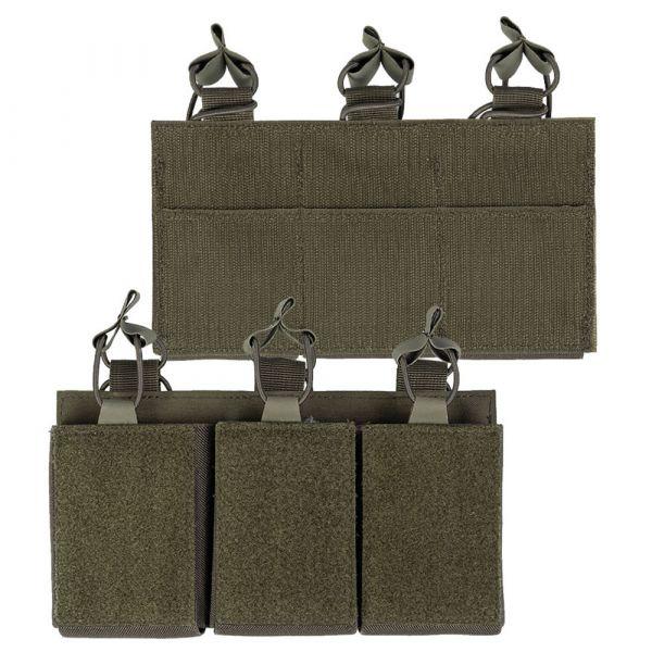 Mil-Tec Magazintasche Triple mit Klettrücken oliv