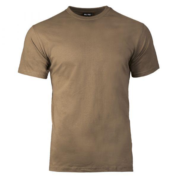 T-Shirt US Style marca Mil-Tec coyote marrone