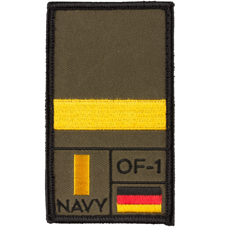 Patch di rango Luogotenente Marina Café Viereck oliva