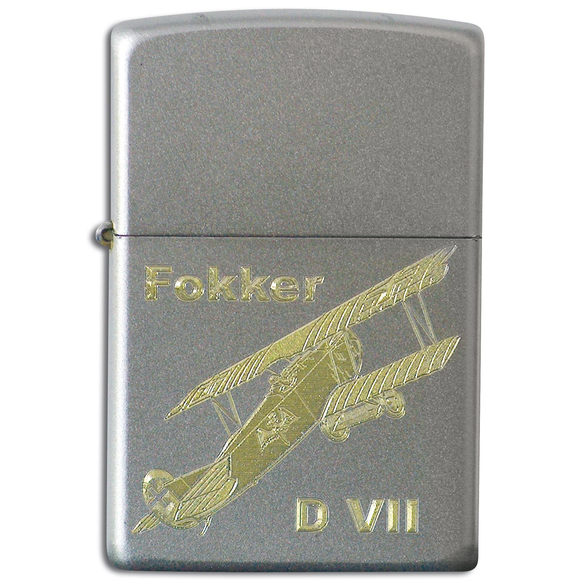 Accendino Zippo con incisione Fokker D VII