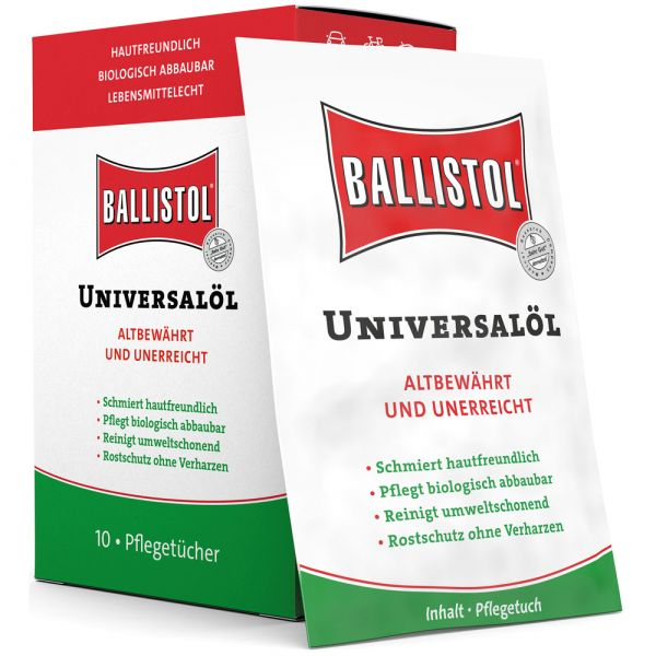Salviette pulizia e cura Ballistol box da 10 pezzi