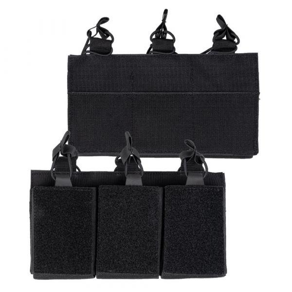 Mil-Tec Mil-Tec Magazintasche Triple mit Klettrücken schwarz