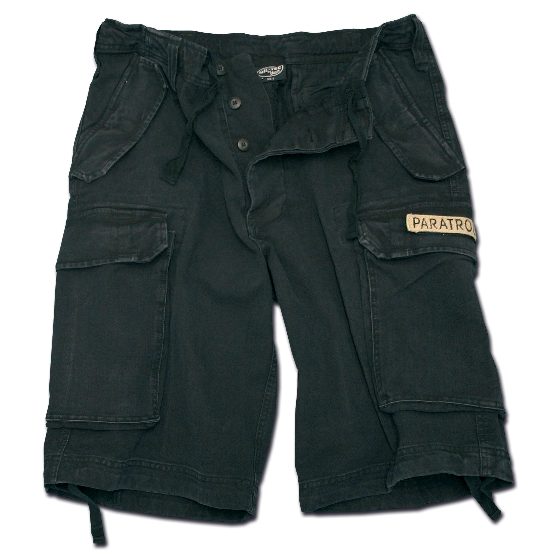 Pantaloncini paracadutista Mil-Tec washed neri