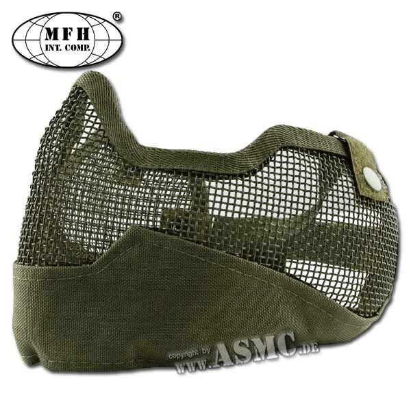 Maschera facciale protettiva softair MFH verde oliva