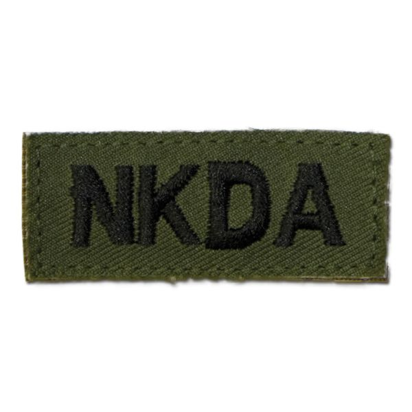 Distintivo in tessuto con velcro NKDA verde oliva