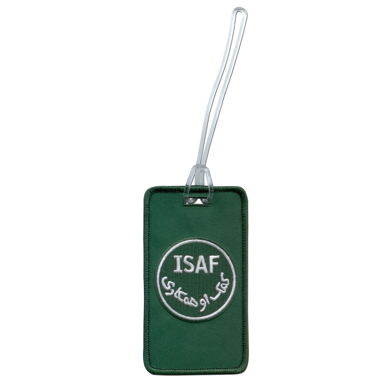 Luggage tag ISAF green