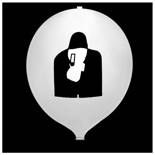 Knixs Tac Ballon weiß dauerleuchtende LED weiß