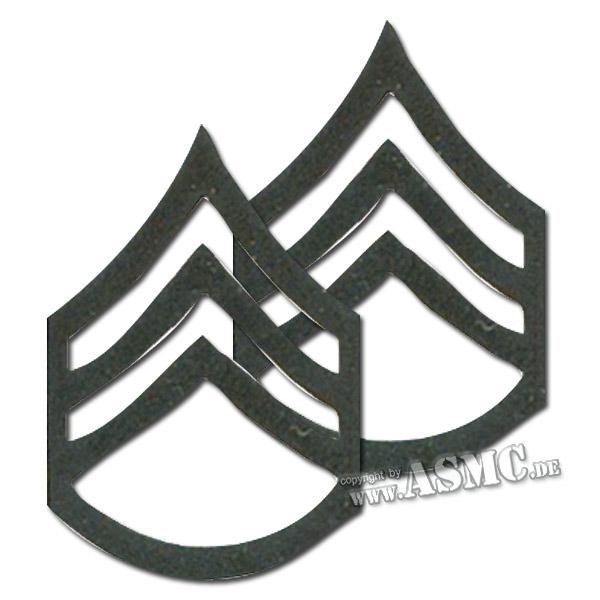 Distintivi di rango in metallo Sergente subordinato US