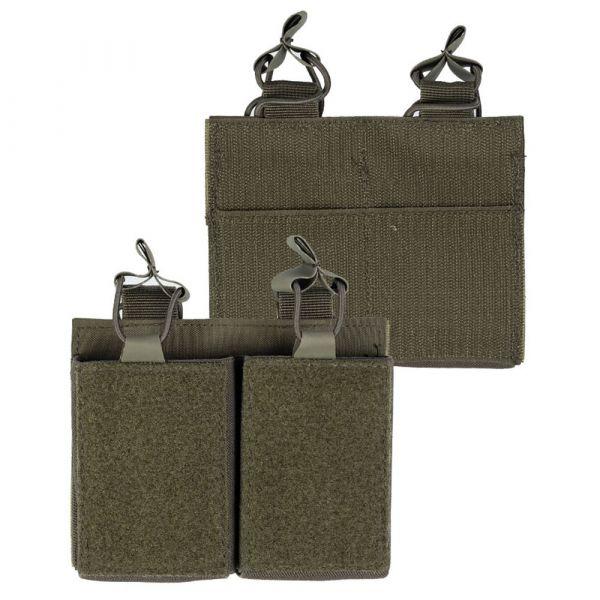 Tasca porta caricatore Mil-Tec Double con retro in Velcro oliva