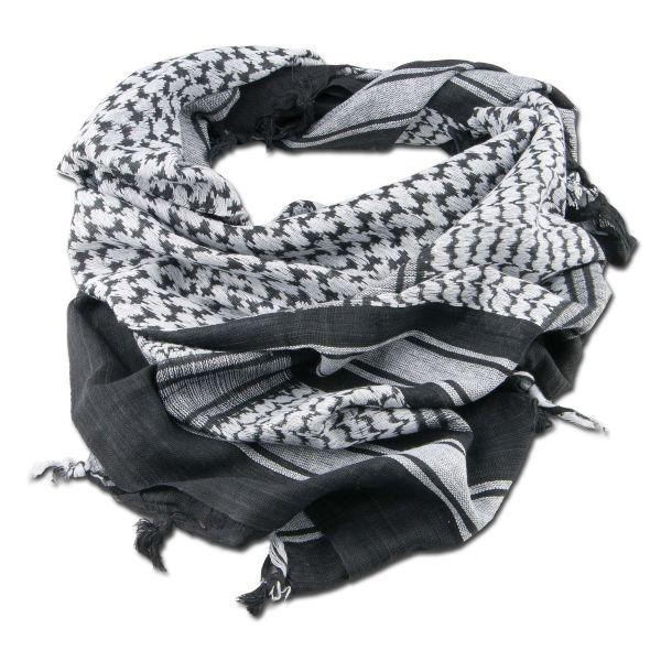 Fazzoletto da collo Shemag bianco/nero 110x110 cm